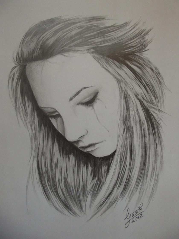 woman crying art