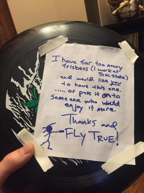 frisbee kindness