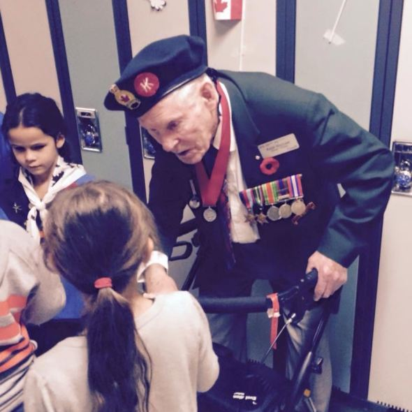 Littler Girl asks WW2 Veteran a Question