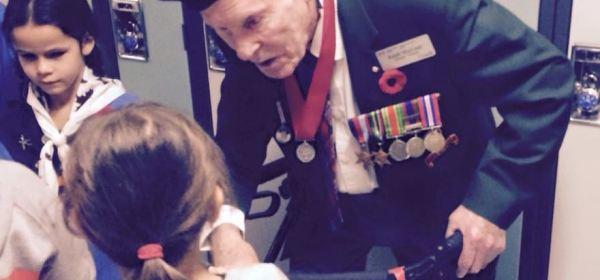 Littler Girl asks WW2 Veteran a Question