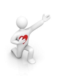 heart 3d man