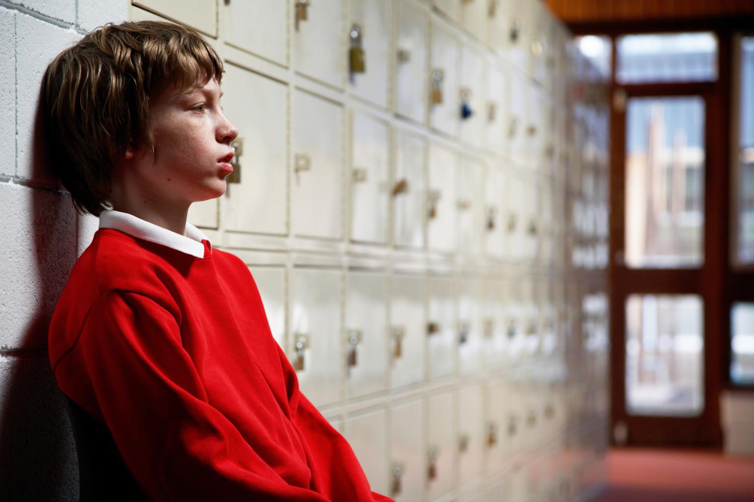 schoolboy sad