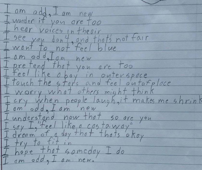 10-Year Old Boy's Poem About Aspergers
