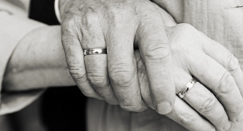 """""""old couple"""" wallpaper holding hands"""
