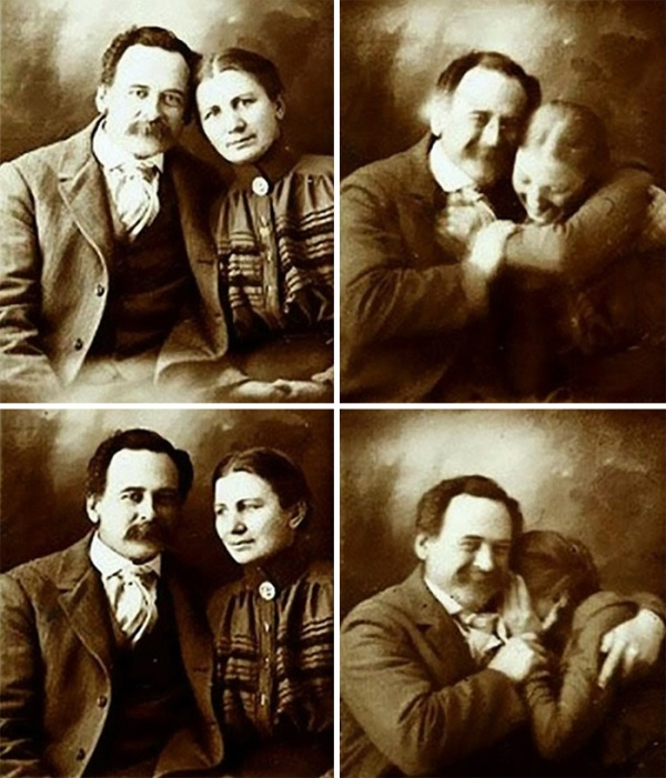 All old-timey photos are so serious. It's nice to see this one with a couple smiling and laughing. Makes them seem more relatable.