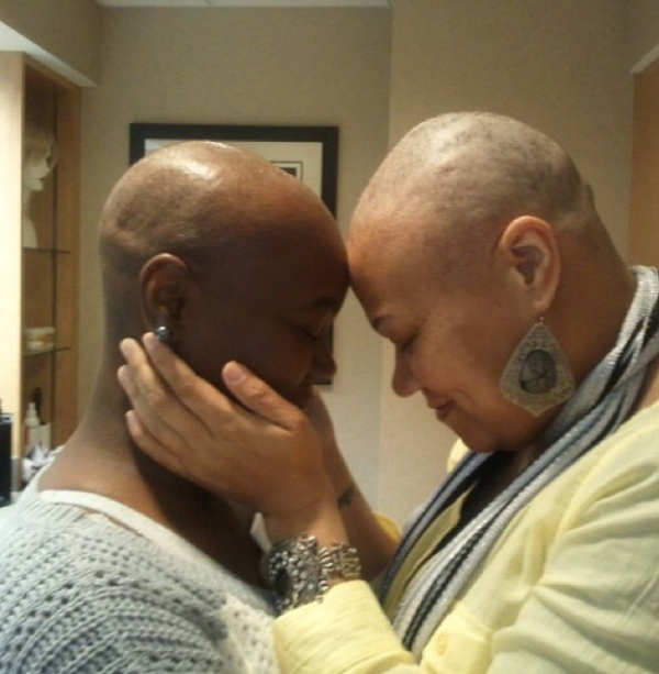 """""""3-years ago my aunt was diagnosed with breast cancer and she had to lose her hair but my mom wasn't gonna let her little sister go through this alone."""""""