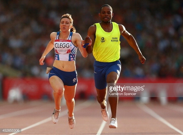 Libby Clegg and her partner Mikhail Huggins
