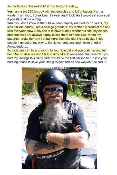 kind biker