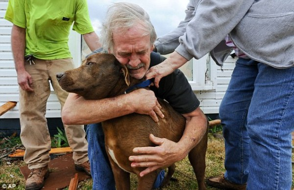 Man Reunited with Dog After Tornado Destroys His Home