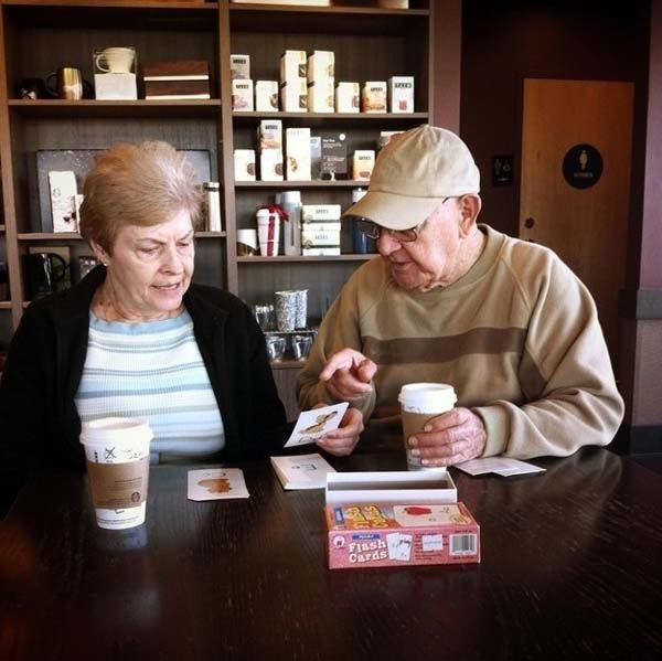 This man teaches the love of his life how to read again after she had a stroke.