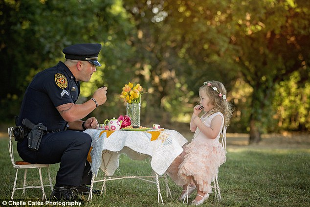 Bexley's savior: Last July, then-22-month-old Bexley choked on a small coin and likely would have died if it were not for Officer Ray's actions