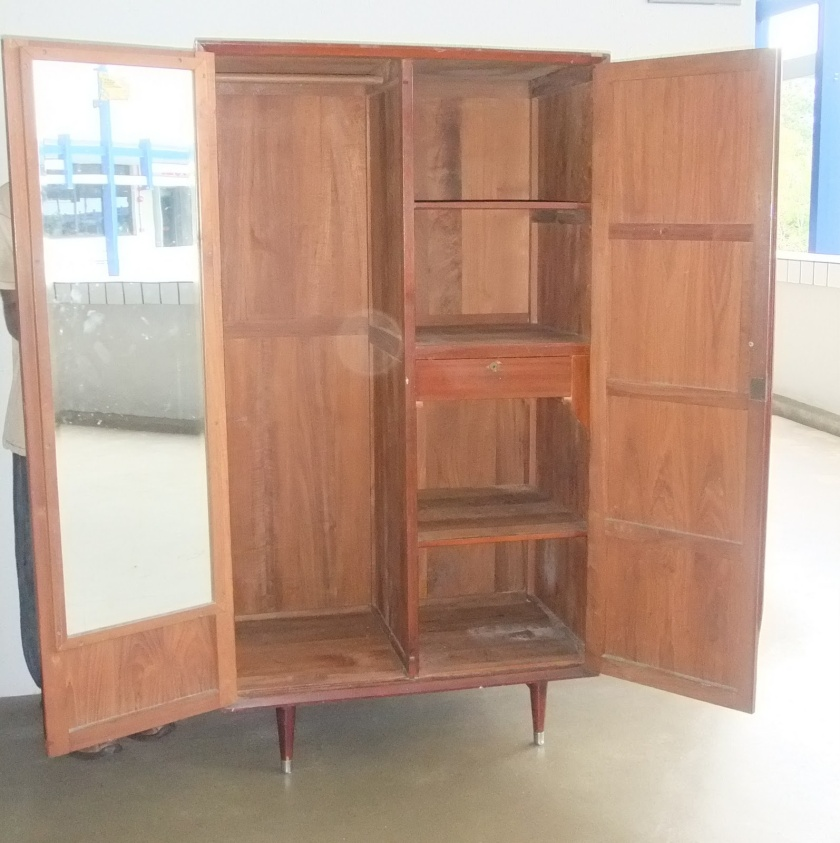 wardrobe with mirror inside