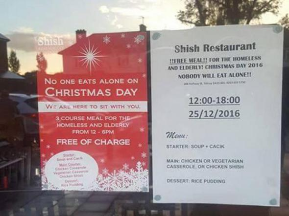 shish restaurant free food