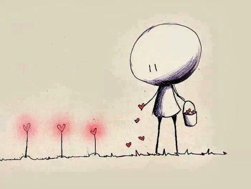 kindness image - figure spreading hearts
